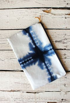 SHIBORI // Hand dyed clutch by sageandflax on Etsy