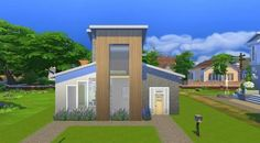 Luxury Modern Starter - A very spacious #starter for your Sim. It has all the basic furniture and a large bookcase to start with. #modern #cheap #NoCC visit my profile for more starters.