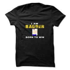 (Tshirt mostT-Shirt) BADGER WAS BORN TO WIN Tshirt Best Selling Hoodies, Funny…
