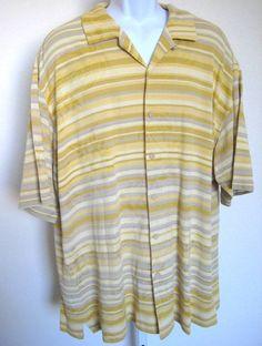 d8e3ac52 Tommy BAHAMA Men's Size XL Silk Cotton Blend Camp Shirt Hawaiian Copyright  Print