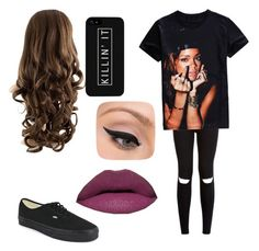 """Untitled #83"" by andeelion ❤ liked on Polyvore featuring Vans and LORAC"