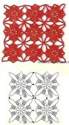 Long evening dress for women crochet Red crochet dress motifs. Long evening dress for women crochet Record of Knitting Wool rotating, weaving and sti. Red Crochet Dress, Poncho Crochet, Beau Crochet, Crochet Motifs, Crochet Diagram, Crochet Chart, Crochet Squares, Crochet Doilies, Crochet Flowers