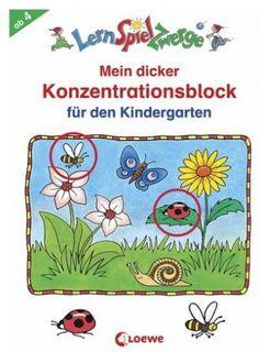 Mein dicker Konzentrationsblock für den Kindergarten  Pestré hádanky okolo témy koncentrácie - pre cielenú podporu deti z materských škôl. Pestré hádanky kolem tématu koncentrace - pro cílenou podporu děti z mateřských škol.  Mein dicker Konzentrationsblock für den Kindergarten  Abwechslungsreiche Rätsel rund um das Thema Konzentration - Zur gezielten Förderung von  Kindergartenkindern - Kindgerechte, lustige Gestaltung - Ideal für kleine LernSpielZwerge!