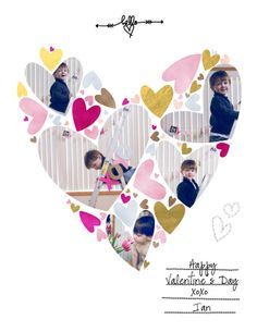 Valentine 2014 by littlelamm at @Studio_Calico  Love how she used the digital template for creating her valentine.  So sweet.