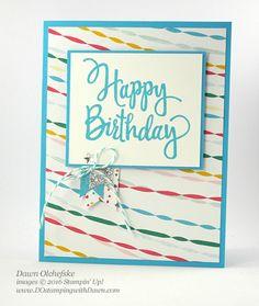 DOstamperSTARS Thursday Challenge #203: Festive Birthday DSP with Stylized Birthday