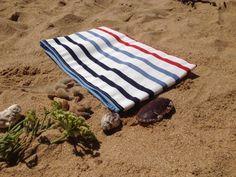 Grande pochette blanche rayé marin : Sacs à main par happyaime