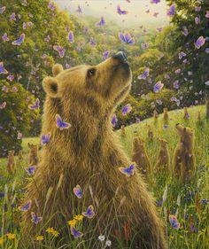 Mariposas y osos   Robert Bissell Art