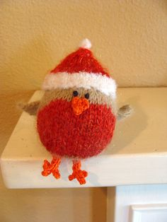 Christmas robin. With a secret pouch in his back for hiding small gifts on the Christmas tree