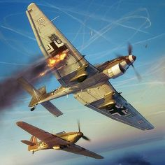 Commisioned illustration for Battle of Britain Combat Archive Vol. models by Wojciech Kliment Niewęgłowski, Scene, textures and illustration by Piotr Forkasiewicz.