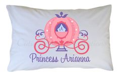 Princess Carriage Pillow Case Personalized by CutiesTieDyeBoutique, $18.00