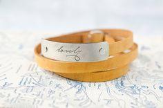 lovely   Adjustable Leather Wrap Bracelet by Cjohannesen on Etsy, $27.00