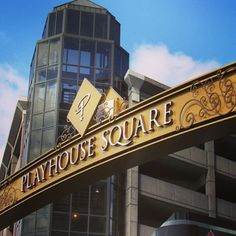 New signage in PlayhouseSquare