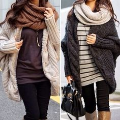 loving the chunky scarves and sweaters