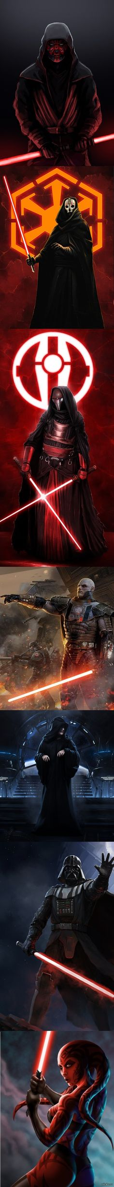 darth vader, darth maul, darth revan, darth sidious, darth malgus, darth…