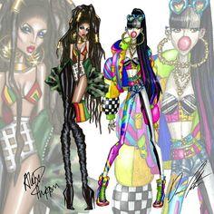 Daren J X Alex Phippen. Music Madness, Reggae V.S / K Pop by @alex_phippen and @darenj22 #DarenJxAlexphippen #Alexphippen #darenj #collaboration #artcollaboration #fashion #music #kpop #hiphop #fashionart #fashionillustration #fashiondesign...