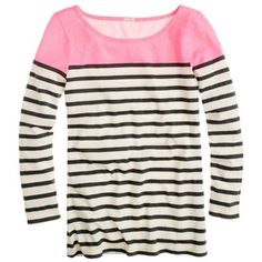 Striped boatneck tee by J. Crew
