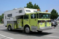 You would be the talk of the campground in your fire truck camper.