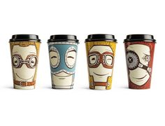 Cute, Customizable To-Go Coffee Cups That Express Your Moods - http://artbyyou.com/featured/cute-customizable-go-coffee-cups-express-moods/