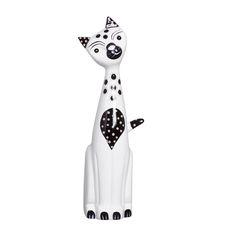 Gato de Cerâmica Decorativa. Com esta linda estatueta, sua decoração ficará muito elegante e cheia de graça.