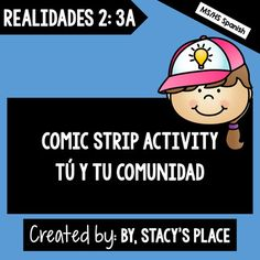 Comic Strip Activity with vocabulary terms and phrases for students to illustrate.