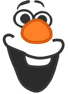 Olaf with a Big Smile from Frozen Applique Embroidery for Machine Design 3 Sizes on Etsy, $3.00