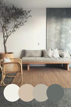 Home Room Design, Home Interior Design, Living Room Designs, Home Living Room, Living Room Decor, Bedroom Decor, Bedroom Colors, House Color Schemes Interior, Japanese Interior Design