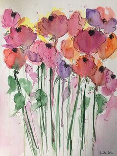 ORIGINAL AQUARELL Aquarellmalerei Bild Wiesenblumen abstrakt Blumen Art Watercolor abstrakte Malerei Floral von GalerieSilberschatz auf Etsy https://www.etsy.com/de/listing/572974426/original-aquarell-aquarellmalerei-bild
