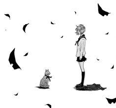 <3 | via Tumblr black and white anime