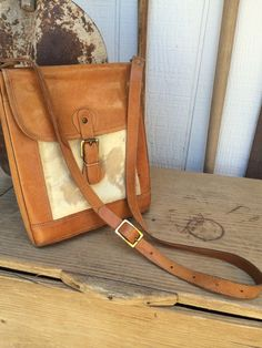 Vintage Cow Hide and Leather Purse by LitterandVintage on Etsy