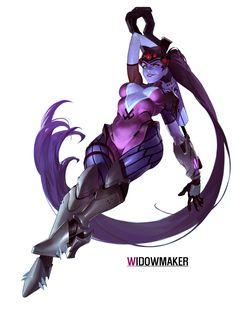 "spassundspiele: ""Widowmaker – Overwatch fan art by u kyoung An """