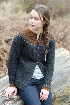 Ravelry: KCee's Volcanic Maren - top down icelandic cardi see http://www.ravelry.com/patterns/library/top-down-icelandic-sweater