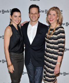 Julianna Margulies Josh Charles Photos - Actors Julianna Margulies, Josh Charles, and Christine Baranski attend the New York Times TimesTalk during the 2012 NY Times Arts & Leisure weekend at The Times Center on January 6, 2012 in New York City. - Julianna Margulies and Josh Charles Photos - 7 of 18