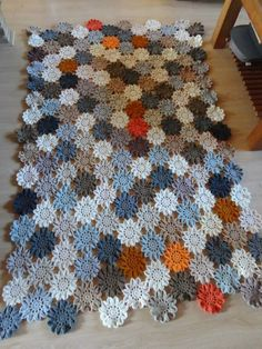 DSC01450 Scrubbies Crochet Pattern, Crochet Motifs, Crochet Quilt, Crochet Blanket Patterns, Free Crochet Square, Plaid Crochet, Knitting For Kids, Quilts, Decoration
