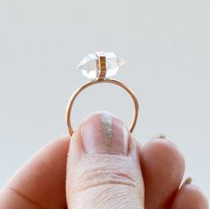 herkimer diamond ring boho modern ring gold fill, or Rose gold Herkimer Diamond ring raw crystal healing jewelry festival jewelry Unique Diamond Rings, Unique Rings, Diamond Jewelry, Ring Set, Ring Verlobung, Boho Rings, Boho Jewelry, Etsy Jewelry, Silver Jewelry