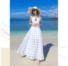 Summer New European And American High-end Jacquard Organza Embroidered Women Plus Size Summer Long Dress B&48