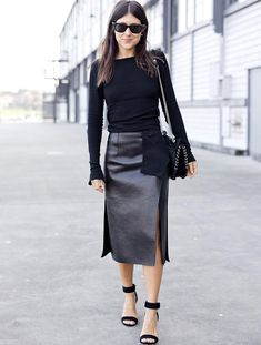 Le parfait total look noir #185 (blog Candice Lake)