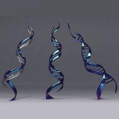 DNA-MODERN-SCULPTURE-Contemporary-Ribbon-of-Life-art