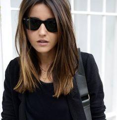 Resultado de imagen para balayage medium straight hair
