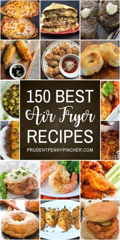 Indulge in your favorite fried foods guilt-free with these delicious and healthy air fryer recipes. There are easy recipes for dinner, appetizers, side dishes, breakfast and even desserts! Air Fryer Recipes Appetizers, Air Fryer Oven Recipes, Air Frier Recipes, Air Fryer Dinner Recipes, Easy Dinner Recipes, Easy Meals, Easy Recipes, Ninja Recipes, Healthy Recipes