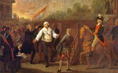 Luis XVI al pie de la Guillotina