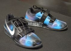 Galaxy Nike Romaleos 2 - Custom Hand Painted Weightlifting Shoes By B Street Shoes