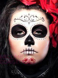 Halloween Sugar Skull Face Design