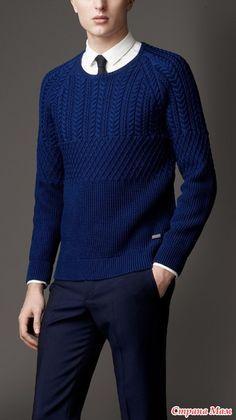 Приглашаю связать вместе мужской свитер