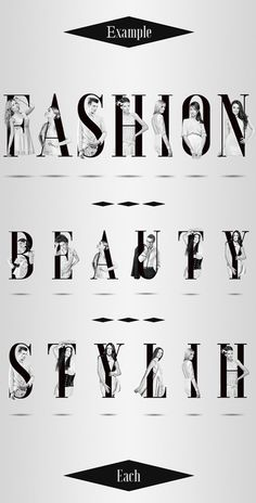 Fashion Alphabet with Models by Danshin Dima