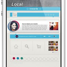 Local Rewards App design by Rovane Durso. - Best Mobile Designers In The World | Scoutzie