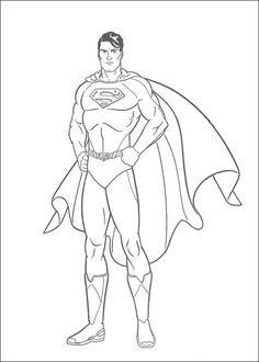 Tegninger til Farvelægning Superman 17