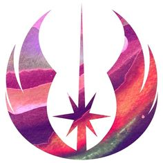 Star Wars Jedi Symbol Mixed Media Art Print