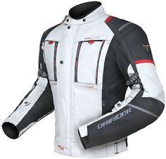 DRIRIDER VORTEX SPORT JACKET WHITE BLACK