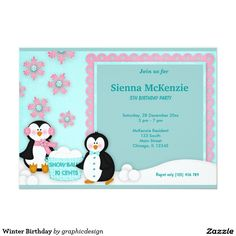 Sold #Winter #Birthday#Invitation #kids Available in different products. Check more at www.zazzle.com/graphicdesign