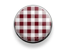 Pick your favorite color | Snap Jewelry Plaid Accent Interchangeable Button - Maroon / Burgandy